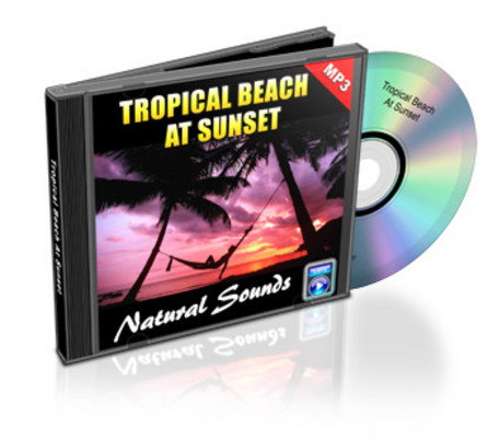 Product picture Natural Sounds: Tropical Beach At Sunset - Royalty Free MP3