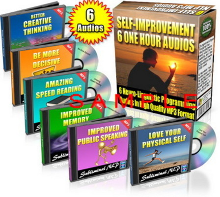 Product picture Subliminal Audio - 6 One-Hour Self Improvement Audios