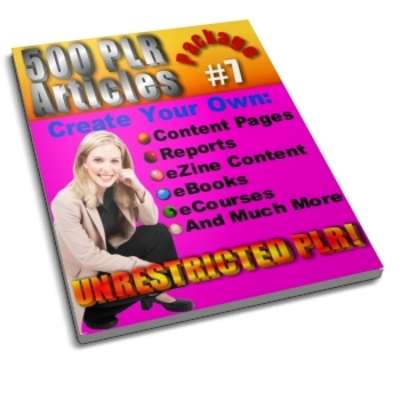 Product picture 500 Unrestricted PLR Articles Package 7