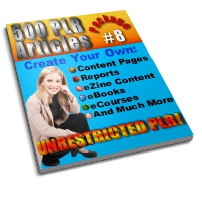Product picture 500 Unrestricted PLR Articles Package 8