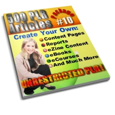 Product picture 500 Unrestricted PLR Articles Package 10
