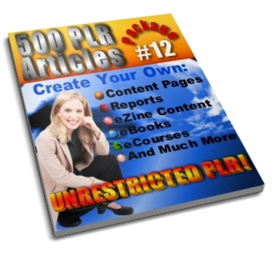 Product picture 500 Unrestricted PLR Articles Package 12