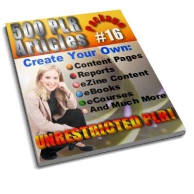 Product picture 500 Unrestricted PLR Articles Package 16